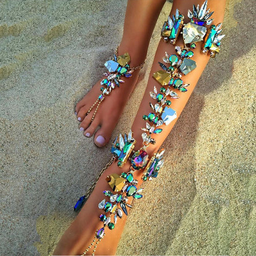Leg Accessories - Hot Barefoot Beach Jewelry Leg Chain