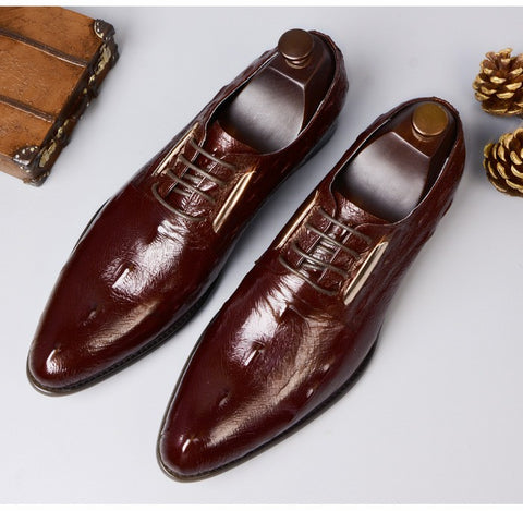 Dress Shoes - Handmade Leather Classic Derby  Breathable Shoe