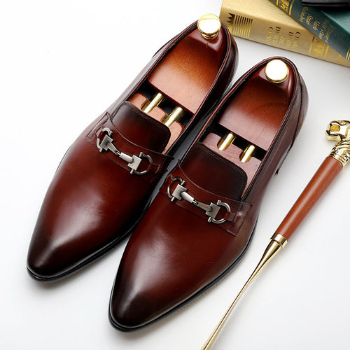 Dress Shoes - Leather Luxury Pointed Toe Dress Formal Shoes