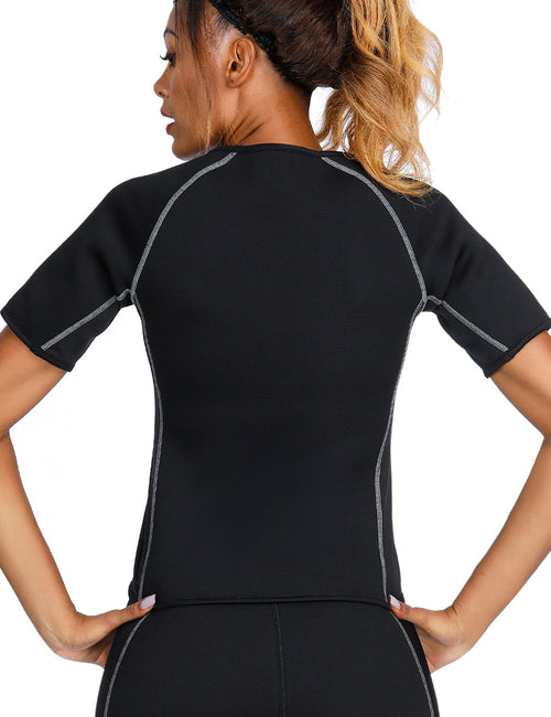 Short Sleeve Big Size Neoprene Luminous Zip Shaper
