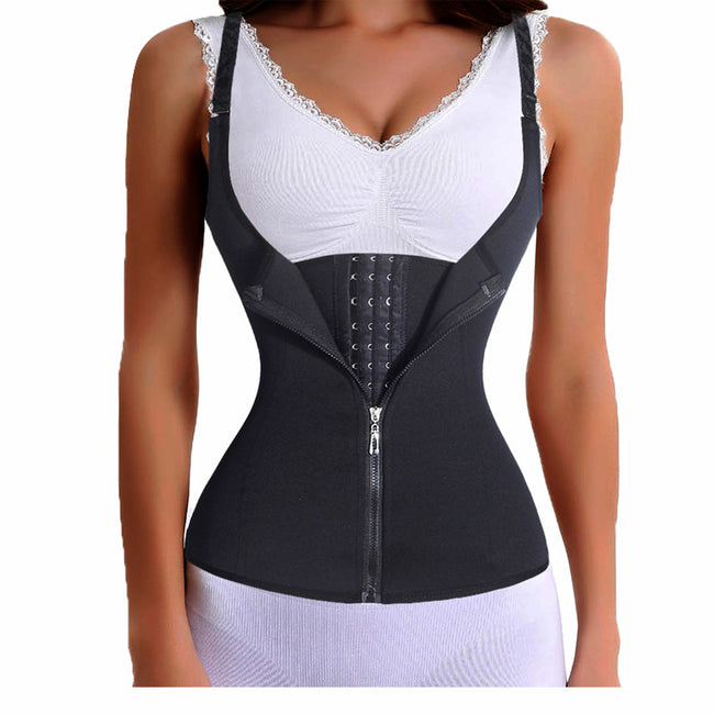 c6bc4c7c7d0 Shapewear - Adjustable Shoulder Strap Zipper Hook Waist Trainer Shaper