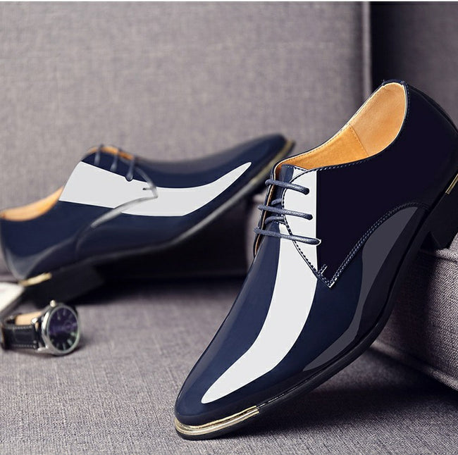 be9d784978 Formal Shoes - Classic Pointed Toe Lace up Patent Leather Shoes ...