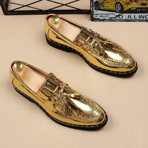 Loafers - Men Italian Tassel Business Wedding Leather Shoes
