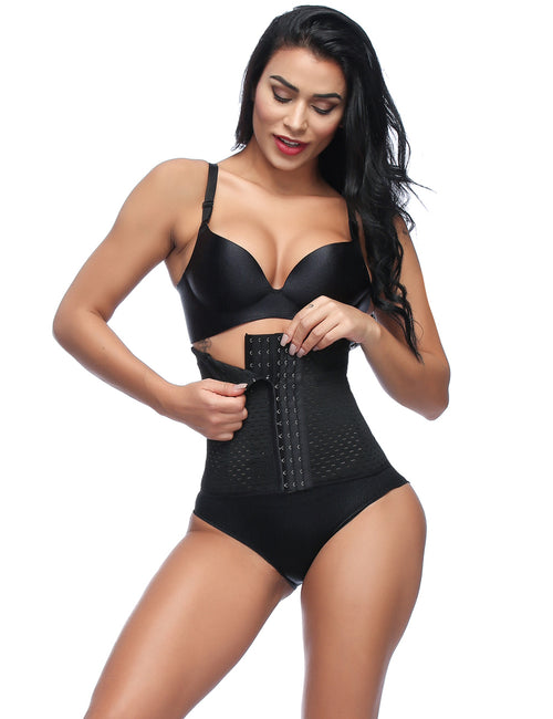Natural Tummy Trimmer Hook Eyes Thermal Waist Cincher
