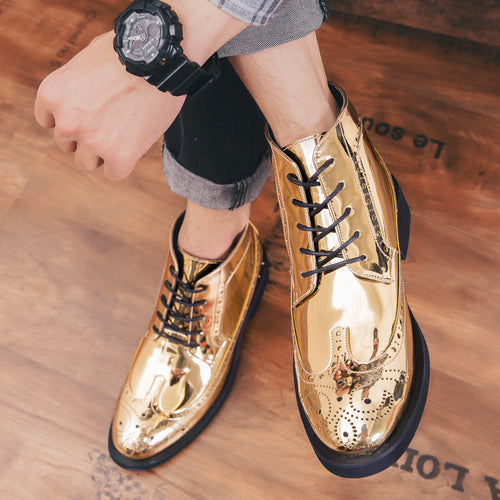 Men Boots - Oxford Leather Boot Ankle Shoes