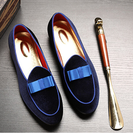 Men Loafer - Suede Wedding Dress Flats Formal Shoes