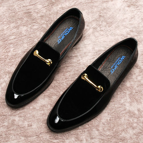 Loafers - Plus Size Luxury Classic Pointed Toe Velvet Shoes