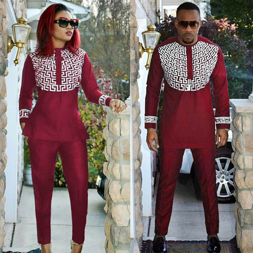 Sets - African Bazin Riche Dashiki Couple Set