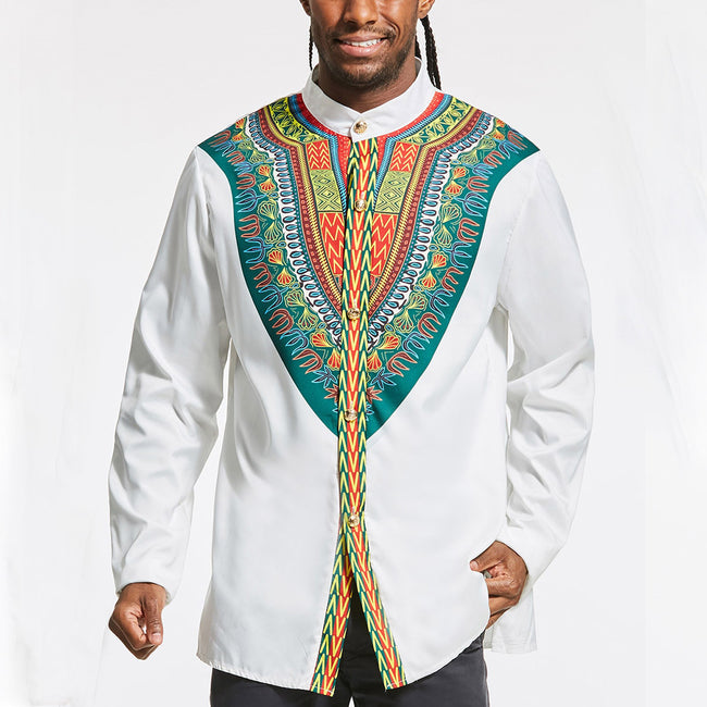 Shirt - Traditional African Dashiki Embroidery Shirt