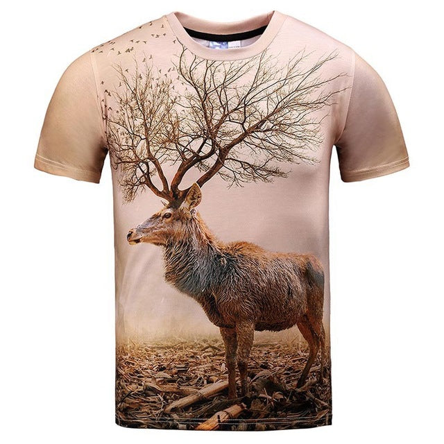 Men's Tops - 3D T-shirt Print Colorful Tops Tees