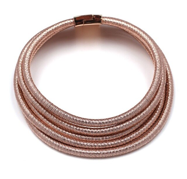 Choker - Chic Coils Multilayer Choker Necklace