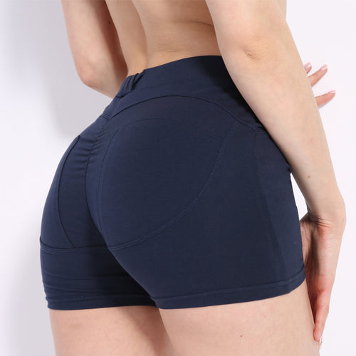 Fitness Shorts - High Waist Push Up Hip Fitness Shorts