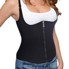 Shapewear - Adjustable Shoulder Strap Zipper Hook Waist Trainer Shaper