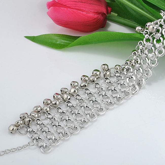 Foot Accessories - Sexy Antique Silver Bells Ankle Chain