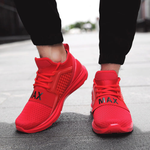 Men's Shoes -  2018 NEW Breathable Running Sneaker Shoes