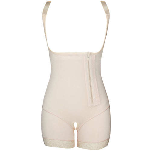 One-piece Girdle - Full Body Modeling Strap Lace Open Crotch Shaper