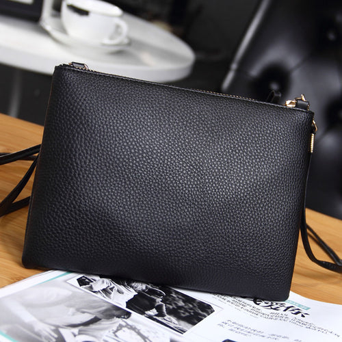 Bag - Women's Clutch Leather Crossbody Bags