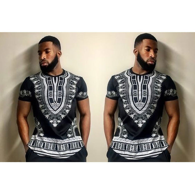 Men's Tops - Hot Sale  Dashiki Traditional Polyester Printing Clothes