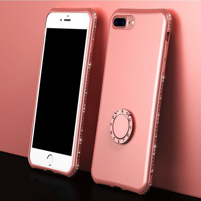 Phone Case -  Diamond  Finger Ring Case For iPhone