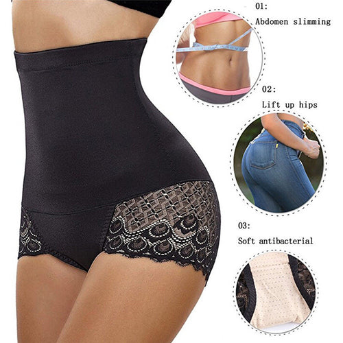 Butt Lifter - High Waist Control Slim Lace Shaping Pants