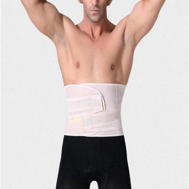 Men's Waist Trainer -  Fitness Waist Cincher Belly Support Belt With Burning Fever Pad