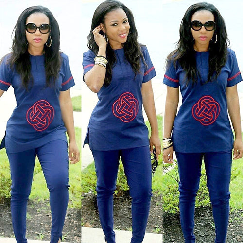 Sets - Dashiki Fashion Soft Material Tops With Pants