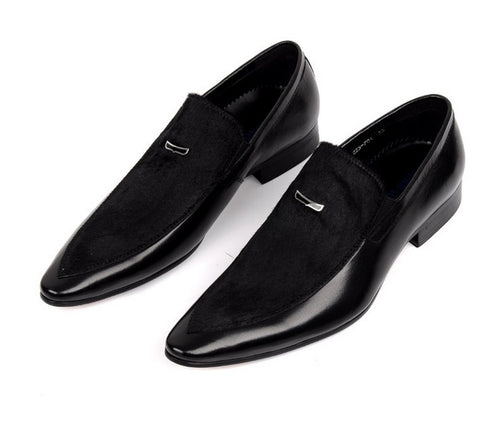 Casual Shoes - Large Size Suede Genuine Leather Dress Shoes