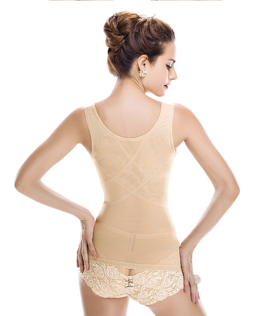 Slimming Top- Lace Invisible Bra Lifter Back Support Top