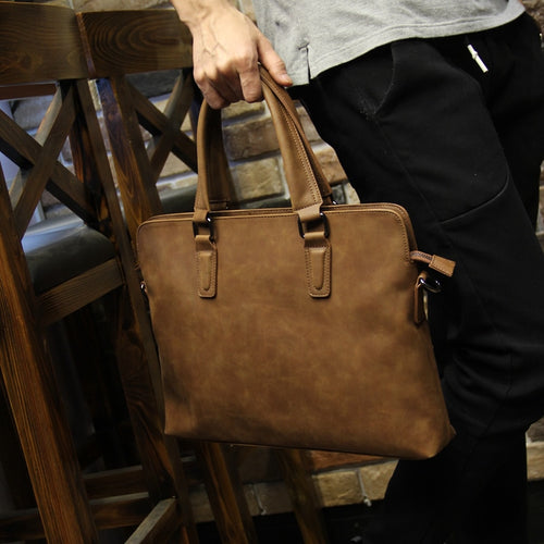 Bag - Vintage Business Pu Leather Men Bags