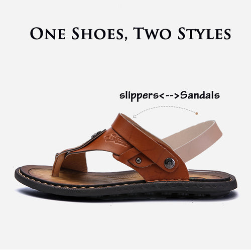 Men's Slippers - Summer Cool Metal Decoration Beach Slippers