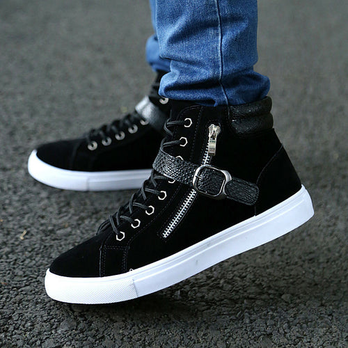 Casual Shoes - Big Size Waterproof Buckle Zipper Ankle Boots