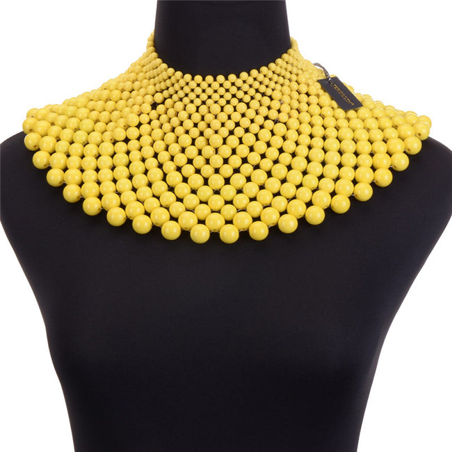 Chocker -  Beads Bib Hip Pop Collar Choker