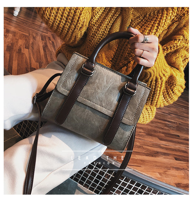 Crossbody Bag - Vintage PU All-match Luxury Designer Shoulder Messenger Bag
