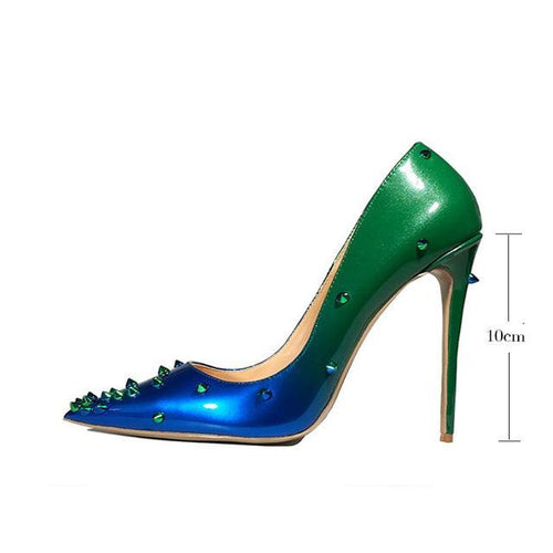 Women's Shoes - Genuine Leather heels Women Pumps