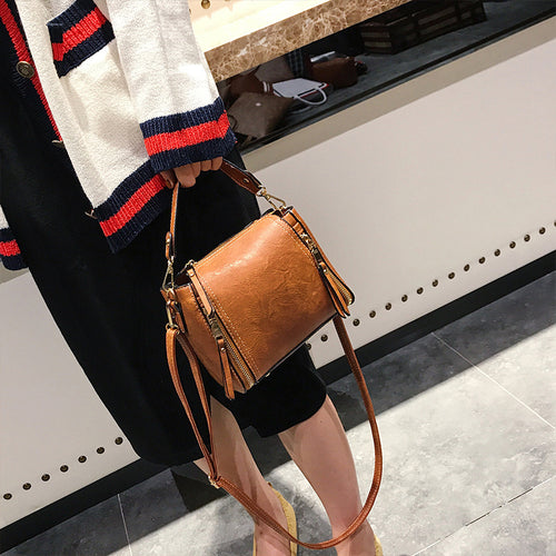 Crossbody Bag - Vintage All Match Large Capacity Shoulder Bag
