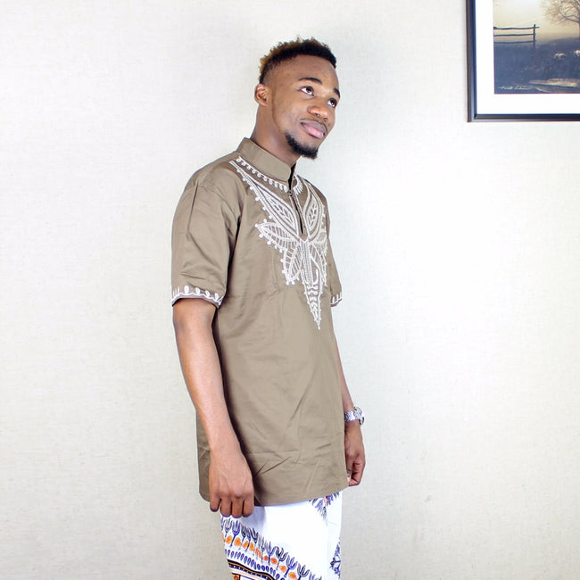 Men's Tops - Dashiki Traditional Embroidery T-Shirt