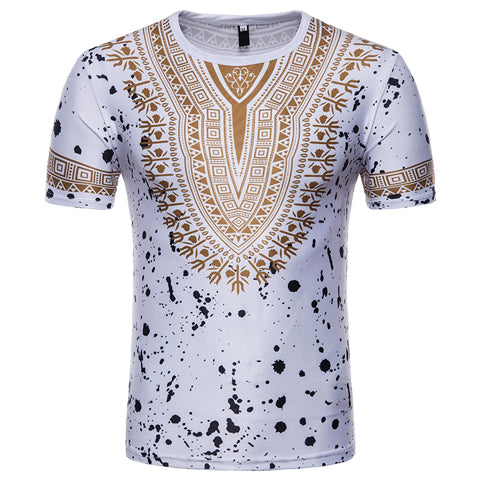 Men's Tops - African 3D Print T-Shirt