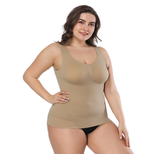 Shaping Vest -  Plus Size Slimming Seamless Padded Bra Tank Tops