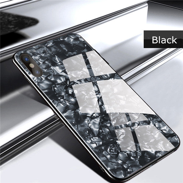 iPhone Case - Lovely Hard Back Cover Tempered Glass Case