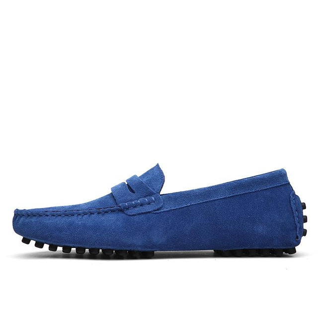 Casual Shoes - Suede Leather Slip-On Shoes