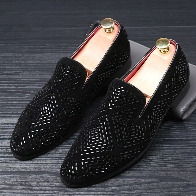 Casual Shoes - Fashion Rhinestone Pointed Toe Loafer Shoes