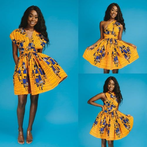 Dress - African Dashiki Style Traditional V-neck Dress
