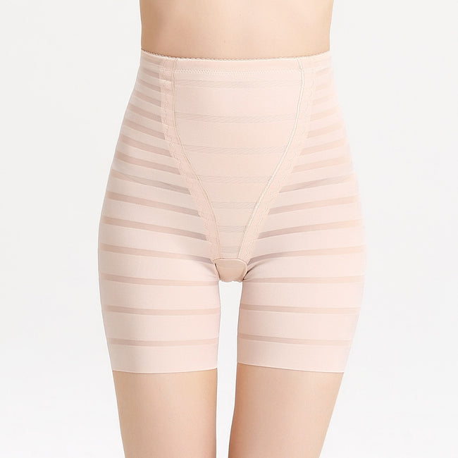 Butt Lifter - Anti Accidental Exposure Striped Slimming Waist Thigh Panties