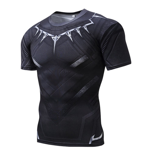 Men's Tops - New 3D Printing Muscle Training T-shirt