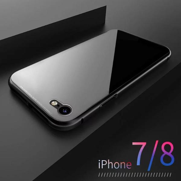brand new 92737 ca003 iPhone Case - Magnetic Adsorption Clear Tempered Glass & Built-in Magnet  Case