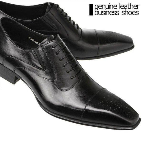 Dress Shoes - Genuine Leather Italian Fashion Business Oxford Shoes
