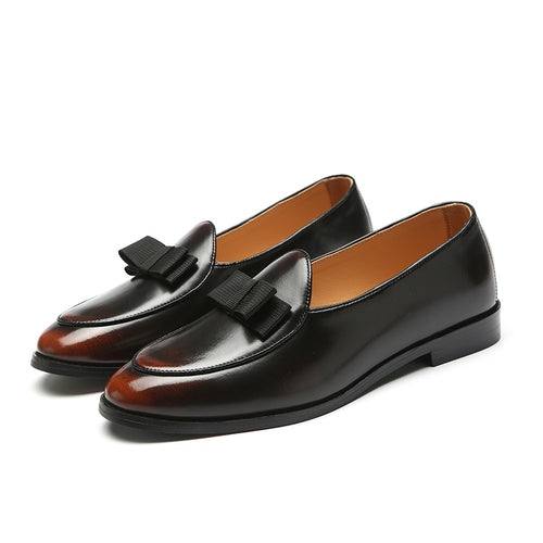 Formal Shoes - Men Gradine Color Pointed Toe Shoes