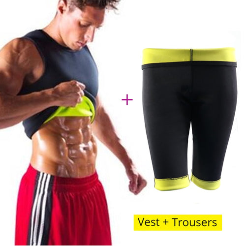 Men's Shaper - Vest + Pants Neoprene  Men Sauna Sweat Slimming Body Shaper