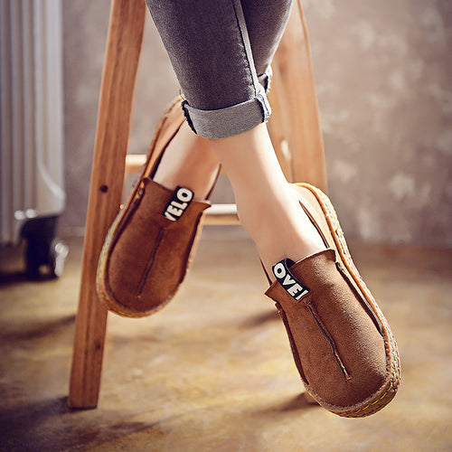 Loafers - Round Toe Oxford Soft Bottom Flats