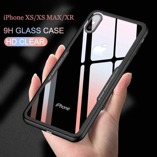 super popular 0af7d 43f6c iPhone Case - Ultra Thin Tempered Glass Cases For iPhone XS /XR /XS MAX